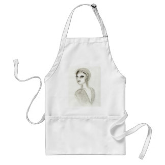 Sophisticated Flapper Adult Apron