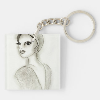 Sophisticated Flapper Keychain