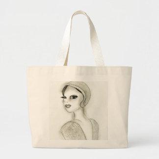 Sophisticated Flapper Large Tote Bag