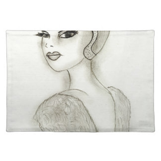Sophisticated Flapper Place Mat