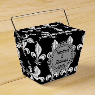 Sophisticated Fleur De Lis Wedding Favor Box