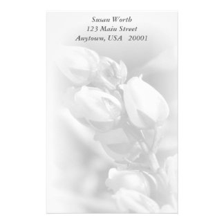 """Sophisticated Floral Stationery - 5.5"""" x 8.5"""""""