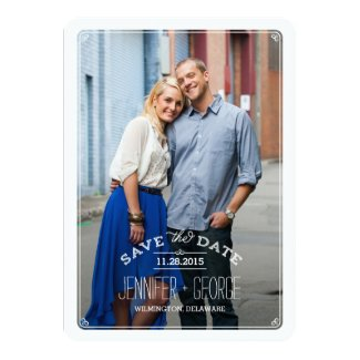 Sophisticated Frame Save The Date Card