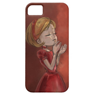 Sophisticated girl and red iPhone 5 Case-Mate protectores