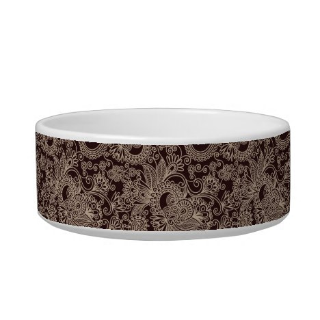 Sophisticated Gold Monogrammed Pet Dish - 3