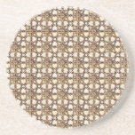 Sophisticated Gold Stained Glass Design Drink Coaster