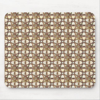 Sophisticated Gold Stained Glass Design Mouse Pad