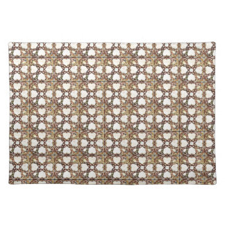 Sophisticated Gold Stained Glass Design Placemat