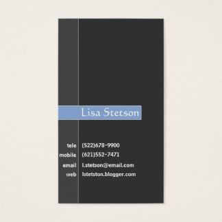 Sophisticated Gray and Blue Business Card