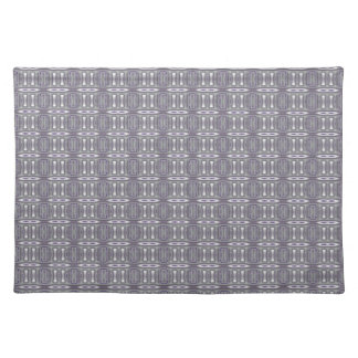 Sophisticated Gray and Plum Purple Geometric Place Mat