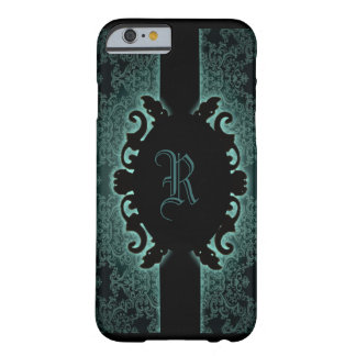 Sophisticated green vintage monogram iPhone 6 case