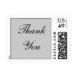 Sophisticated Grey Thank You Postage Stamps