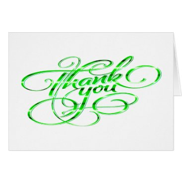 Professional Business Sophisticated Hand Lettered Thank You/Note Card