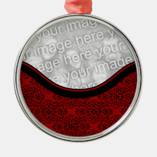 Sophisticated Holiday Damask Premium Ornament