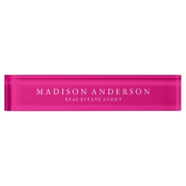 FINEandDANDY Sophisticated in Hot Pink   Desk Name Plate