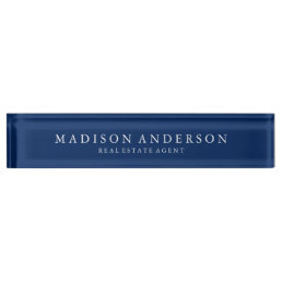 Sophisticated in Navy Blue | Desk Name Plate