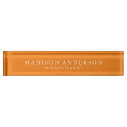 Sophisticated in Orange | Desk Name Plate