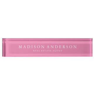 Sophisticated in Pink | Desk Name Plate