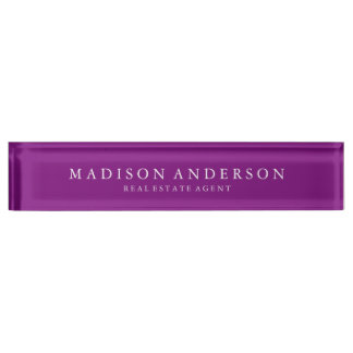 Sophisticated in Purple | Desk Name Plate