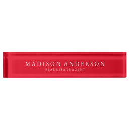 Sophisticated in Red | Desk Name Plate