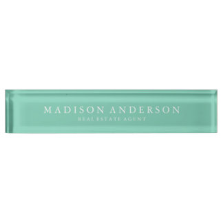 Sophisticated in Seafoam | Desk Name Plate