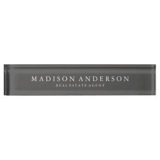 Sophisticated in Slate | Desk Name Plate