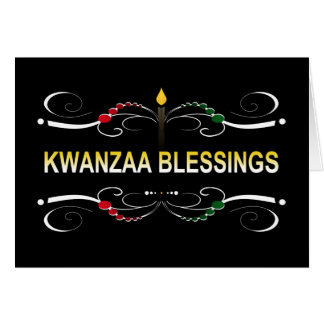 sophisticated kwanzaa blessings card