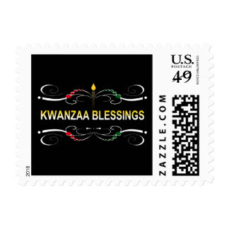 sophisticated kwanzaa blessings postage stamp