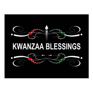 sophisticated kwanzaa blessings postcard