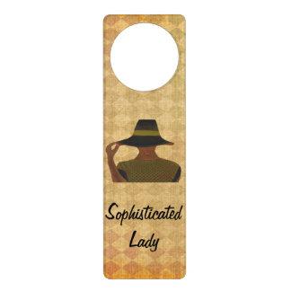 Sophisticated Lady Door Hanger