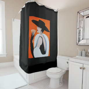 SOPHISTICATED LADY SHOWER CURTAIN