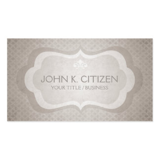Sophisticated Light Taupe Business Card