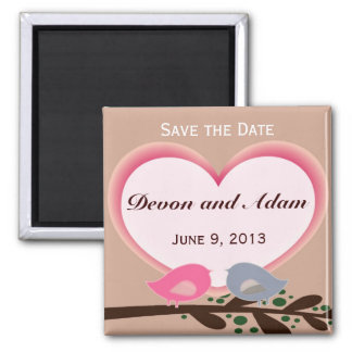 Sophisticated Love Birds Wedding Save the Date Mag Magnet