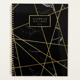 Sophisticated Marble and Gold Texture Planner
