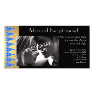 Sophisticated marriage photo announcement template photo greeting card