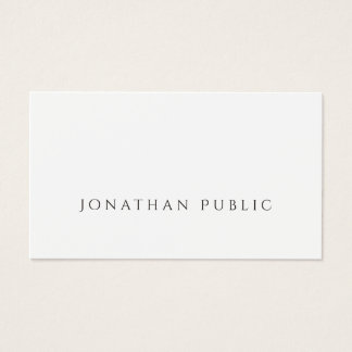 Sophisticated Minimalist Design Chic Plain Luxury Business Card