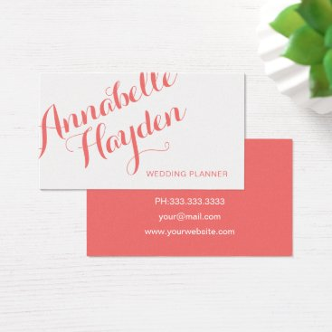 Professional Business sophisticated Modern Coral business cards