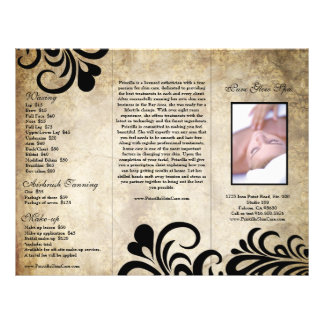 Sophisticated Modern Designer Salon Brochure