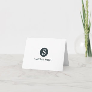Business note cards zazzle sophisticated monogram personal business notecards reheart Gallery