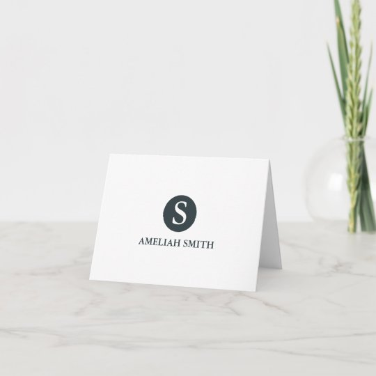 Sophisticated Monogram Personal Business Notecards Zazzle
