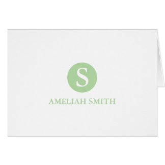 Sophisticated Monogram Personal-Business Notecards Greeting Card