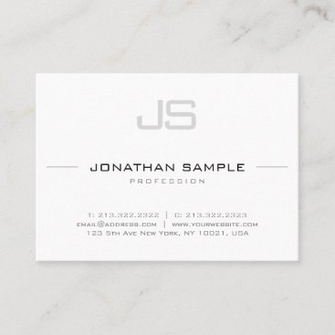 Sophisticated Monogram Trendy Smooth Design Business Card