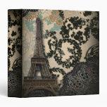 Sophisticated Paris floral Lace vintage wedding Binders