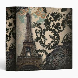 Sophisticated Paris floral Lace vintage wedding Binder