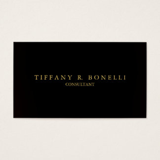 Sophisticated Plain Dark Grey Professional Elegant Business Card