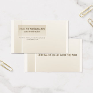 Sophisticated Professional Minimalist Business Card
