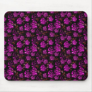 Sophisticated Purple Flowers Mouse Pad