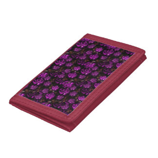 Sophisticated Purple Flowers Trifold Wallet