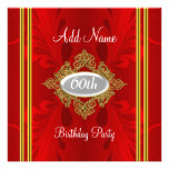 Sophisticated Red birthday Party invitation