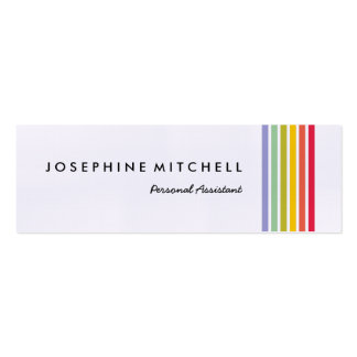 Sophisticated Retro Rainbow Striped Business Card